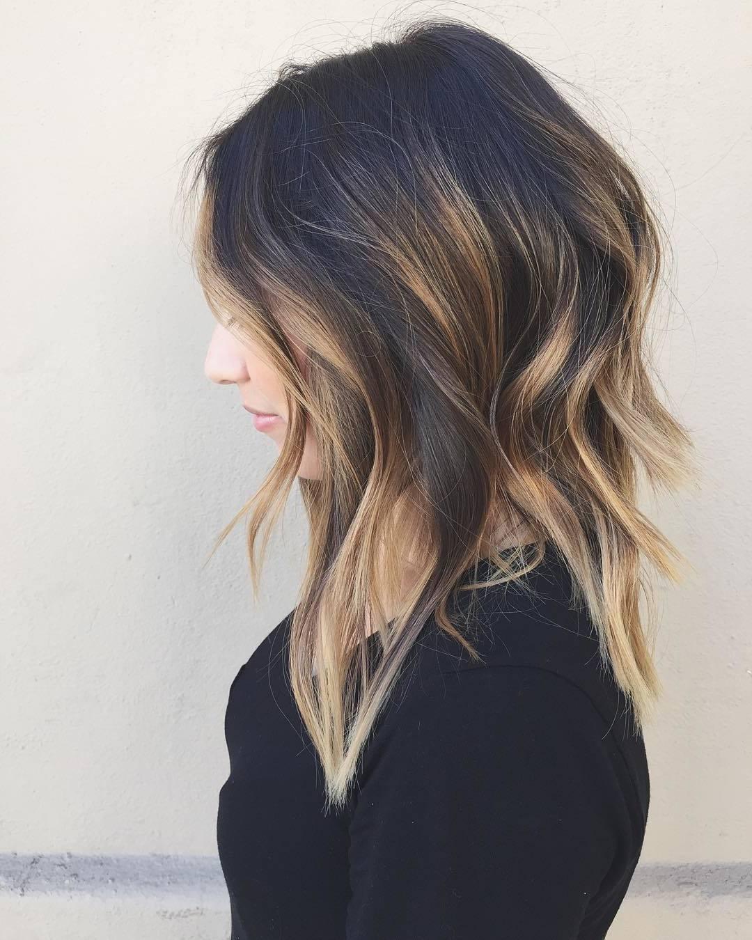 Frisurentrends - Ombre Blond Braun Haar färben