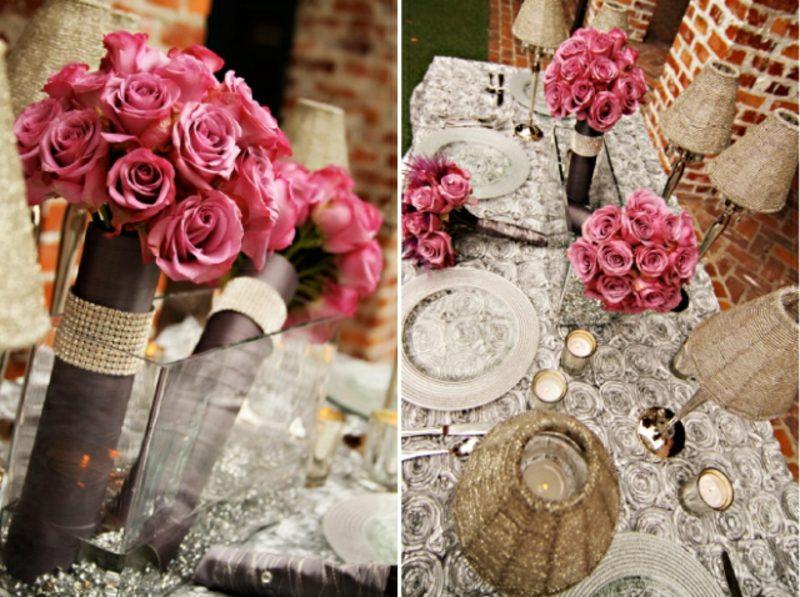 Vintage Hochzeit Blumen Rosen