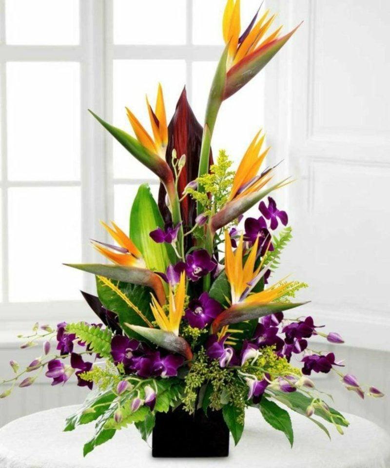Blumengestecke asymmetrisch herrlicher Look