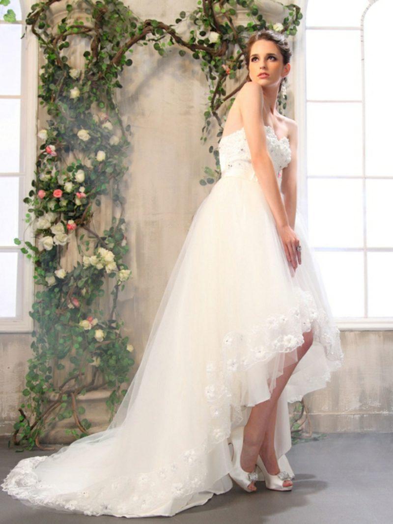 Vintage Hochzeit Brautkleid asymmetrisch herrlicher Look
