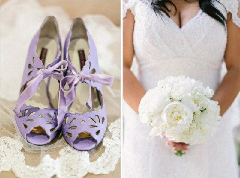 Vintage Hochzeit niedliche Brautschuhe