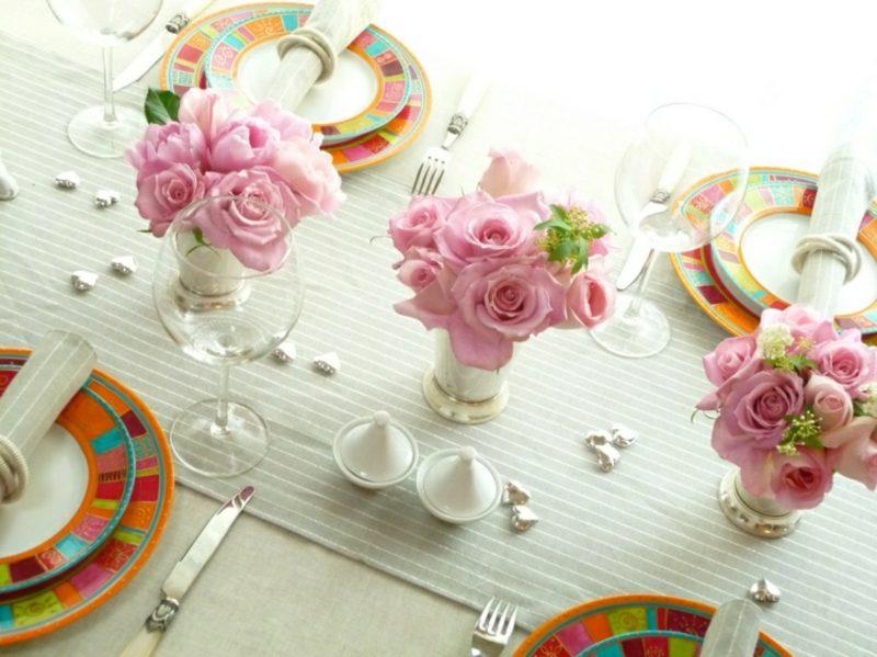 Blumengestecke Rosen romantisch