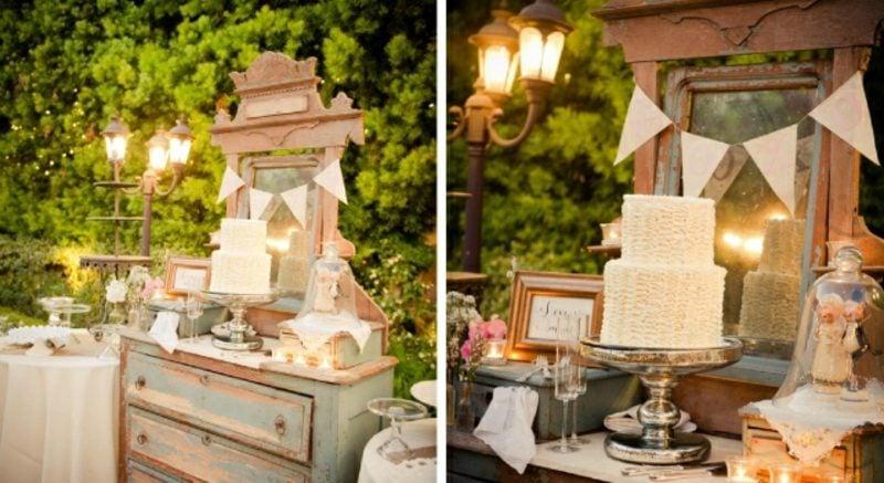 Vintage Hochzeit Garten Dekoideen