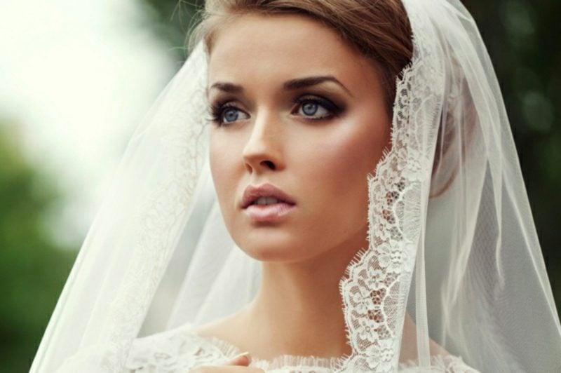 Braut Make up Smokey Eyes Effekt