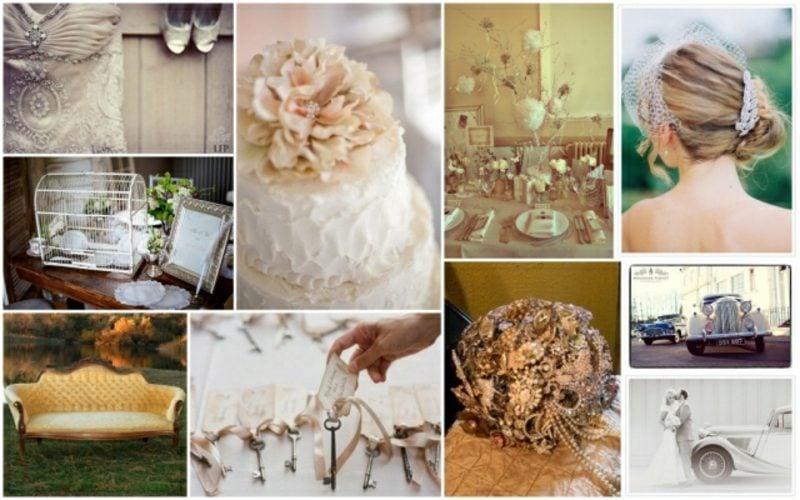 Vintage Hochzeit Torte Einladungen Blumen