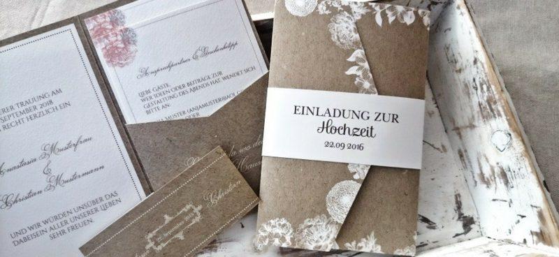 Vintage Hochzeit Einladungen gestalten