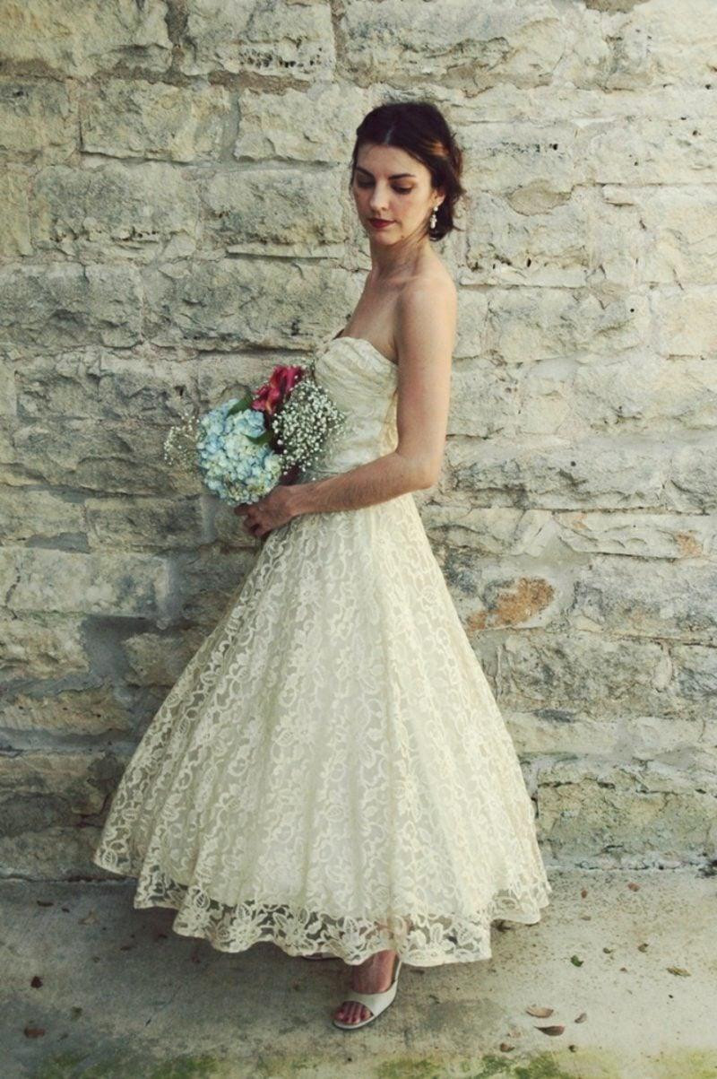 Vintage Hochzeit Retro Brautkleid