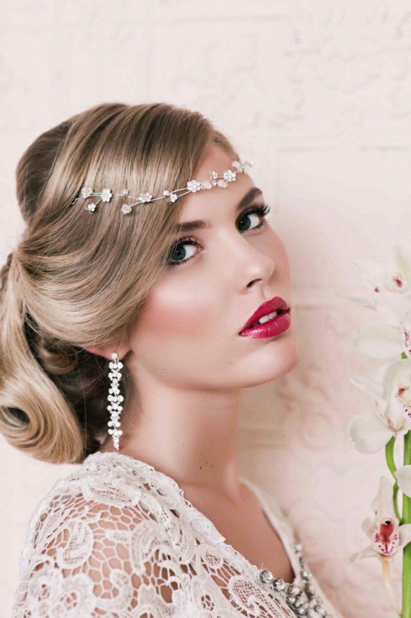 Braut Make up Lippenstift rosarot herrlicher Look