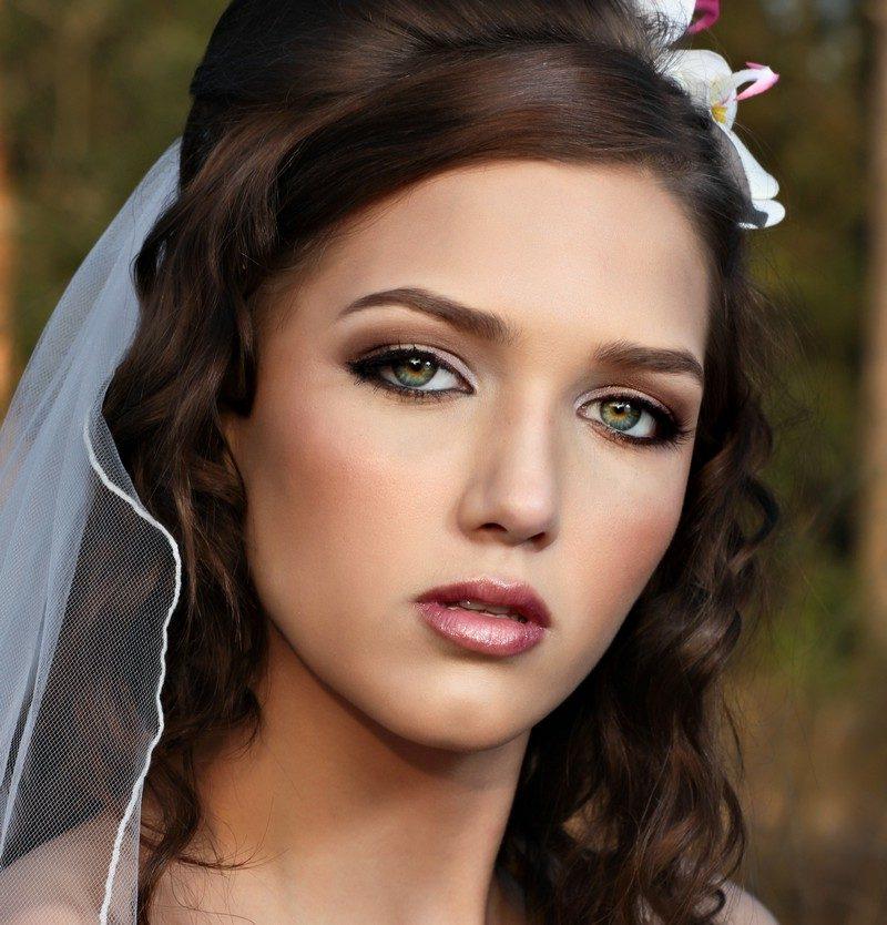 Braut Make up Lidschatten goldenbraun toller Look