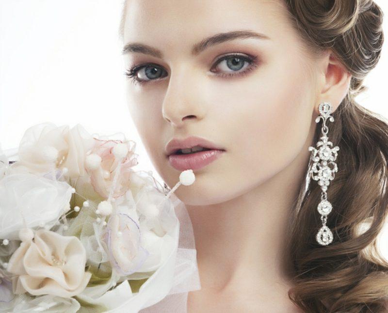 Braut Make up Naturlook rosa Lidschatten