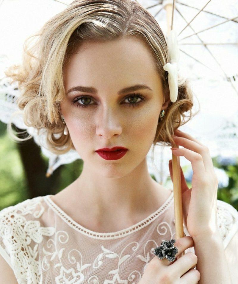 Braut Make up Vintage Look