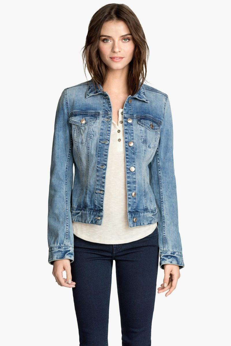 Sommerjacken Damen kurze Jeansjacke modern