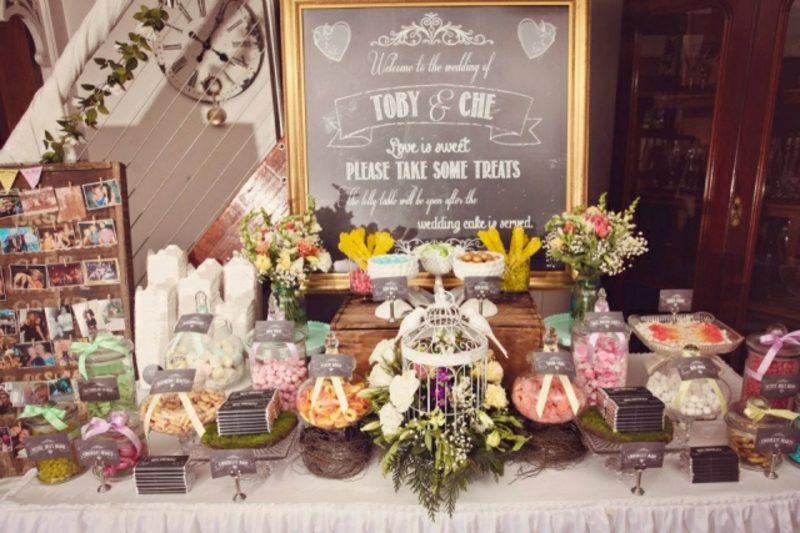 Vintage Hochzeit Tischdeko Retro Stil