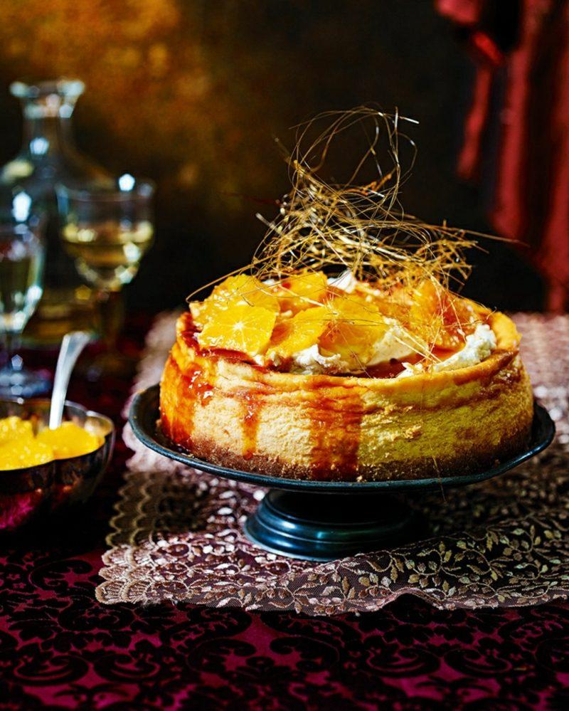 Torten dekorieren Orangen Karamell
