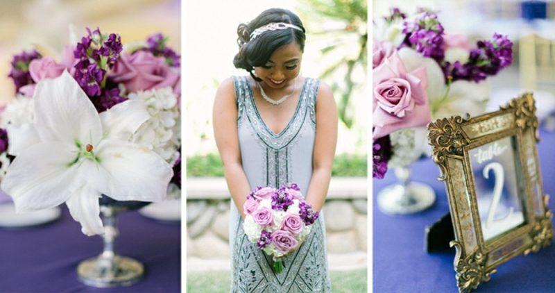Vintage Hochzeit Brautkleid Blumen
