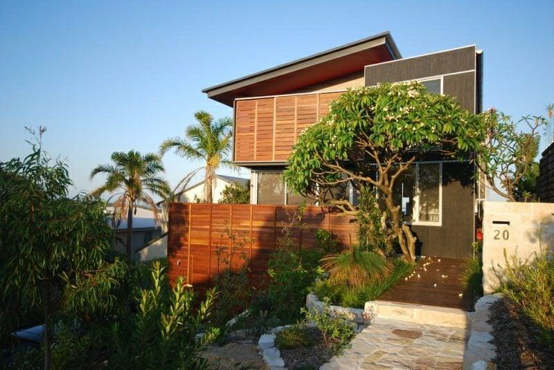 Vorgarten gestalten exotische Pflanzen Palmen