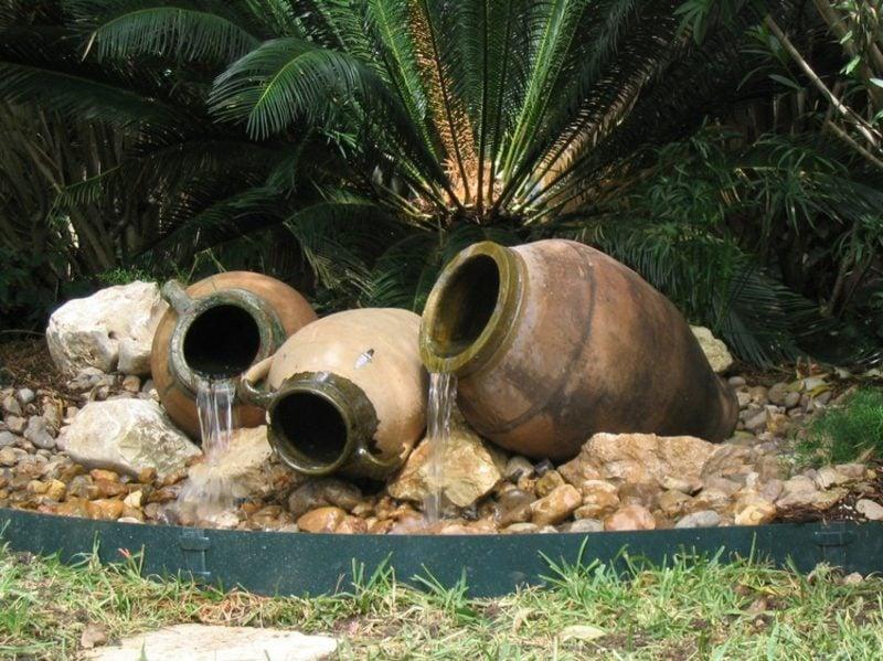 Vorgarten gestalten Wasserspiel