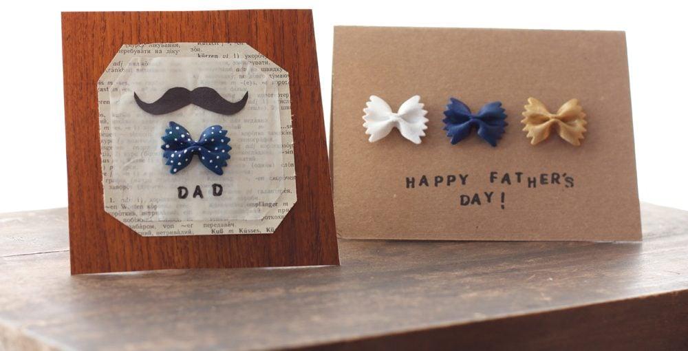 Basteln Sie selbst eine Vatertag-Karte mit Pasta und wünschen Ihrem Vater alles Gute zum Vatertag