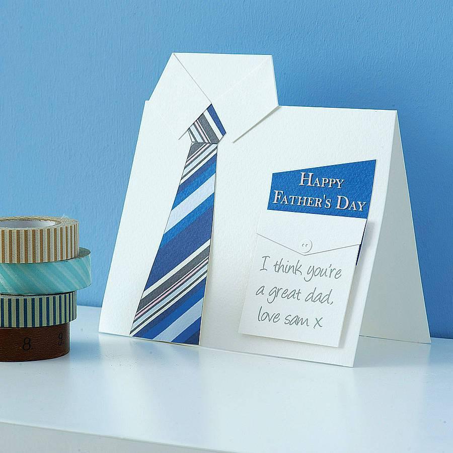 Gekaufte oder gebastelte Vatertag-Karte eignet sich besser dafür, meinem Vater alles Gute zum Vatertag zu wünschen
