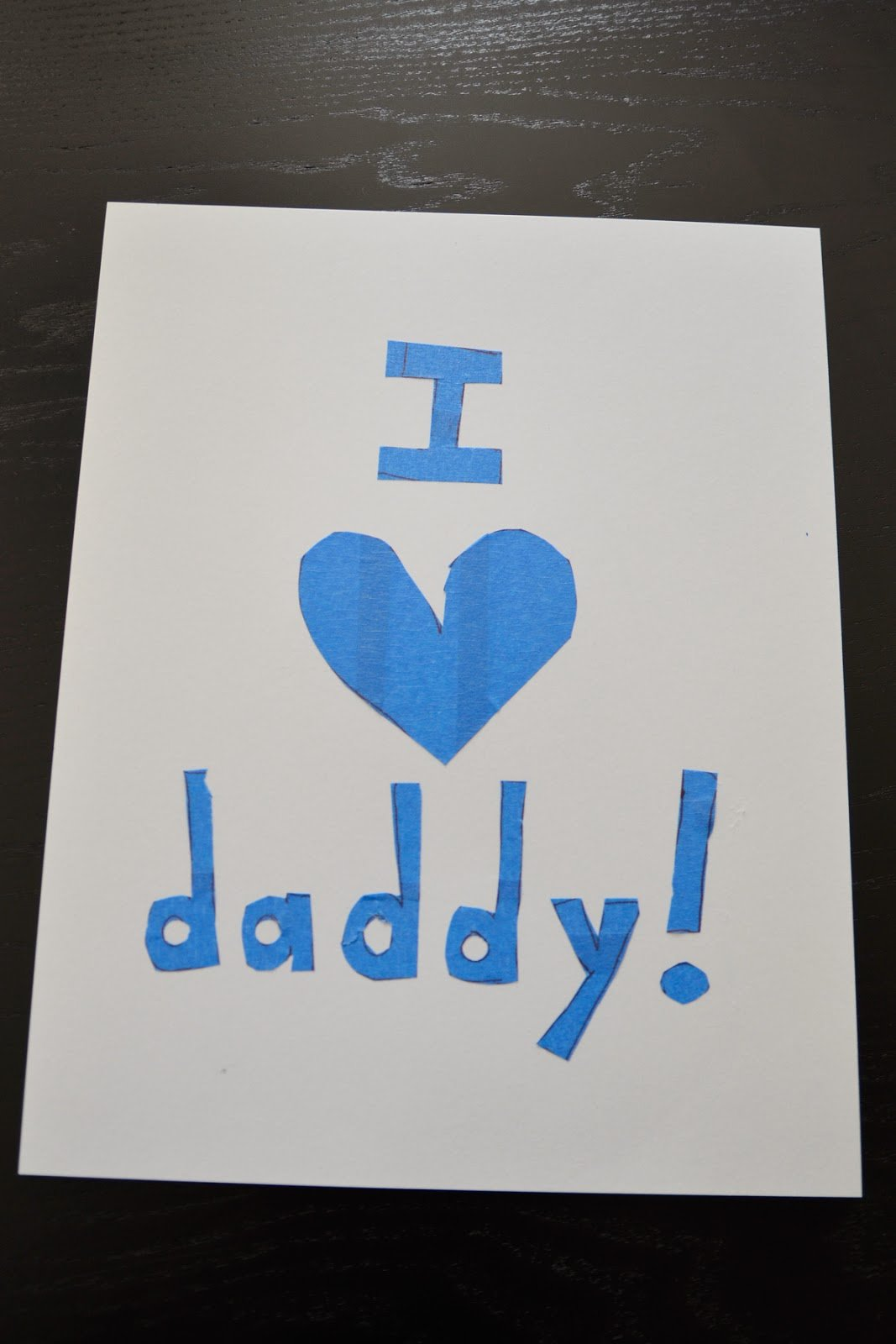 Basteln mit Kindern - Vatertag-Karte basteln und Papa Sprüche schreiben
