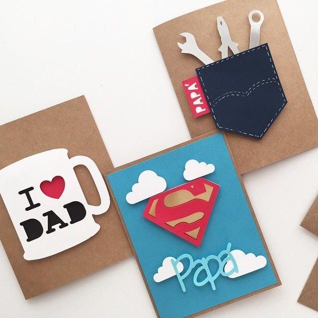 Tolle Idee für Papa Sprüche und Vatertag-Karte