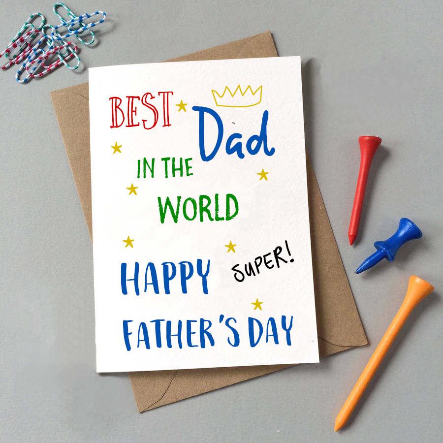 """Wünschen Sie """"Alles Gute zum Vatertag"""" Ihrem Vater mit einer selbstgemachten Vatertag-Karte"""