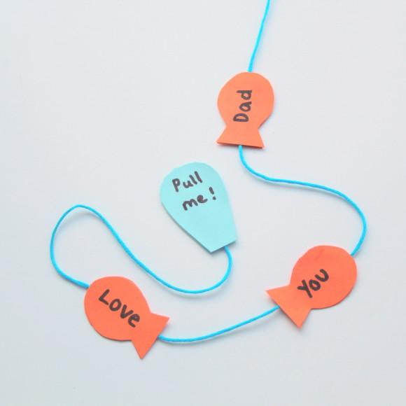 DIY Bastelideen für kleine Kinder: Alles Gute zum Vatertag mit einer selbstgemachten Karte wünschen