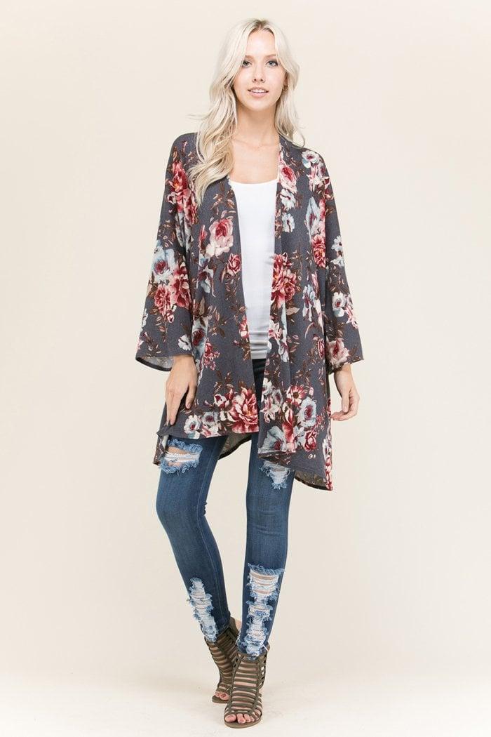 Sommerjacken Damen Kimono