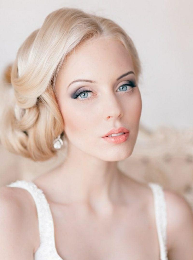 Braut Make up blaue Augen betonen