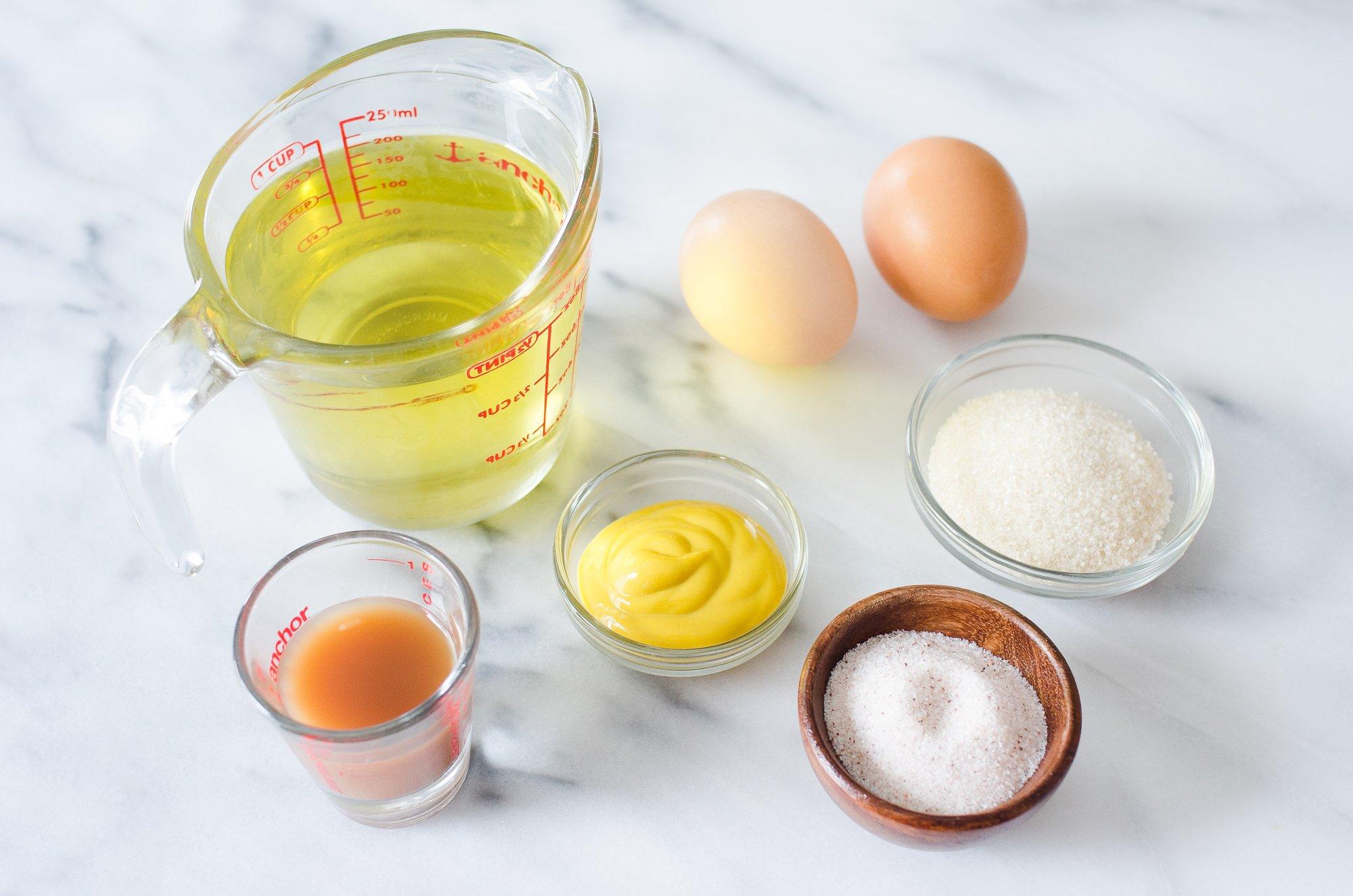 Für unser originelles Mayonnaise Rezept brauchen Sie