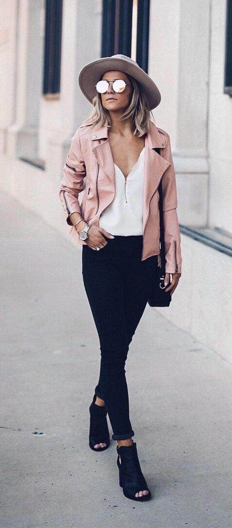 Modetrends 2018: №5: Ziehen Sie eine farbenfrohe Lederjacke an, um die Frühlingsgefühle sofort zu wecken