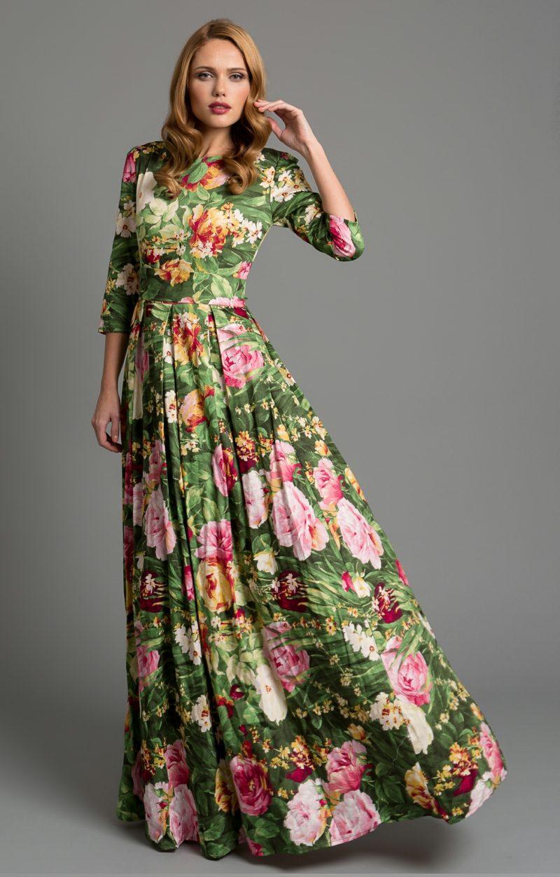 schöne Maxikleider florale Motive