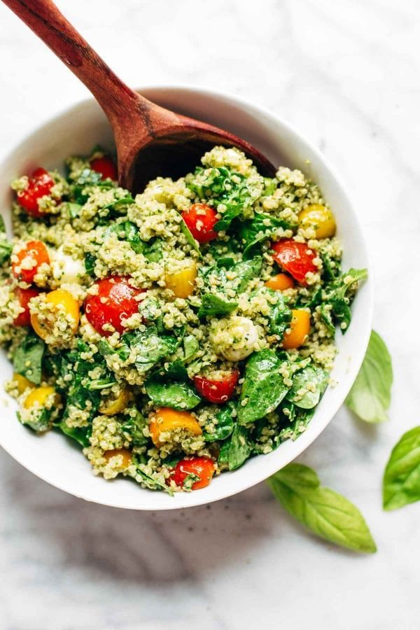 Sommer Rezepte - Quinoa Salat vorbereiten
