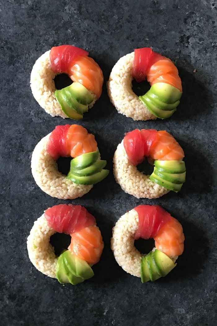 Neue und leckere Sushi Arten zubereiten - die Sushi-Donut