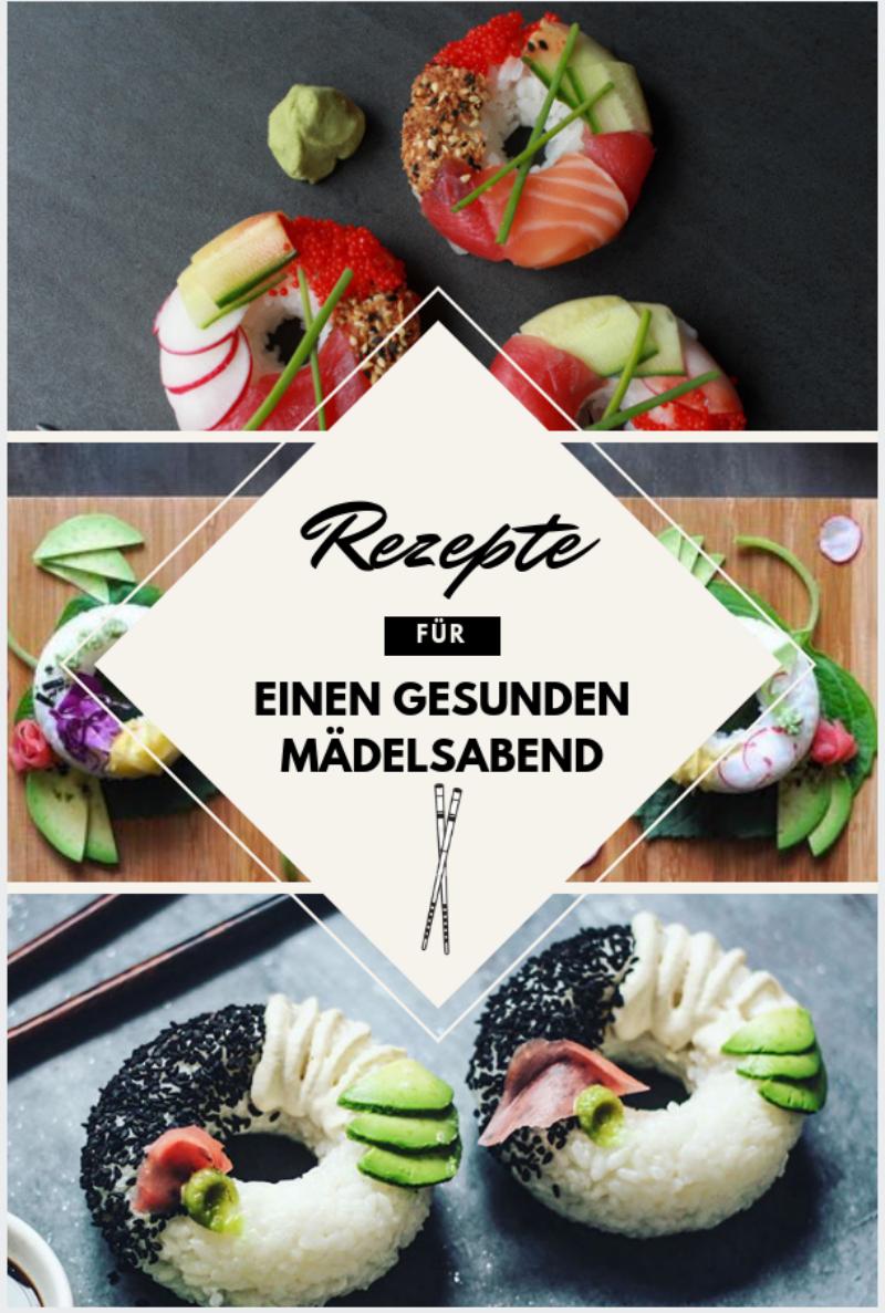 Sushi selber machen: Das leckerste Rezept für Sushi-Donuts für einen gesunden, farbenfrohen und schmackhaften Mädelsabend
