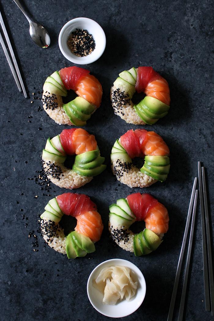 Lernen Sie, wie Sie die Sushi-Donuts selber zubereiten können