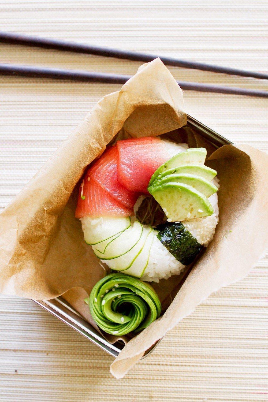 Das perfekte gesunde Lunchbox - Suchi-Donut