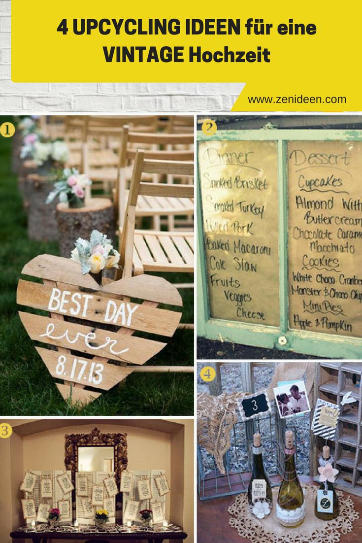 Upcycling Ideen für Vintage Hochzeit
