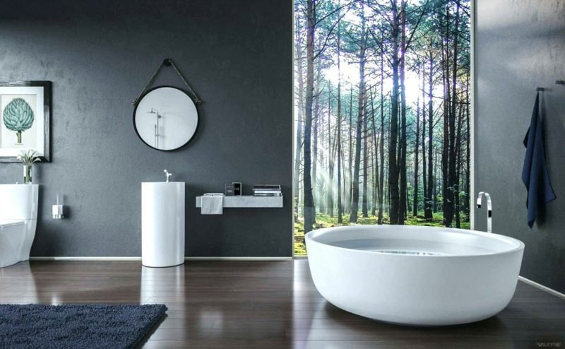 Fototapete Wald im Badezimmer