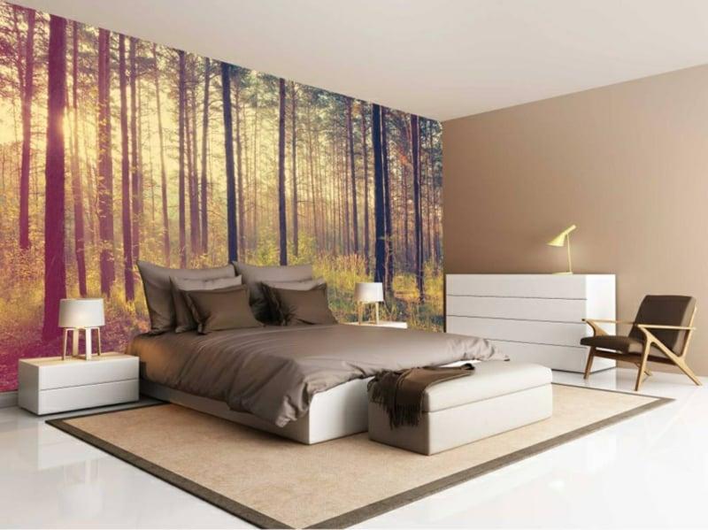 fototapete wald schafft in der wohnung ein stilvolles. Black Bedroom Furniture Sets. Home Design Ideas