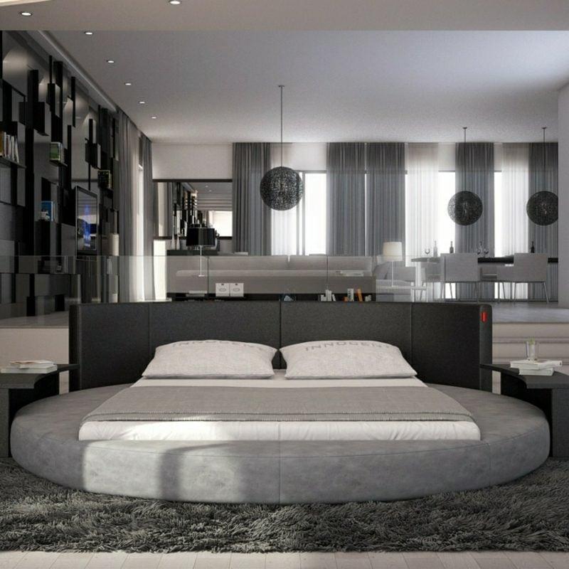 rundes Bett kaufen moderne Ideen