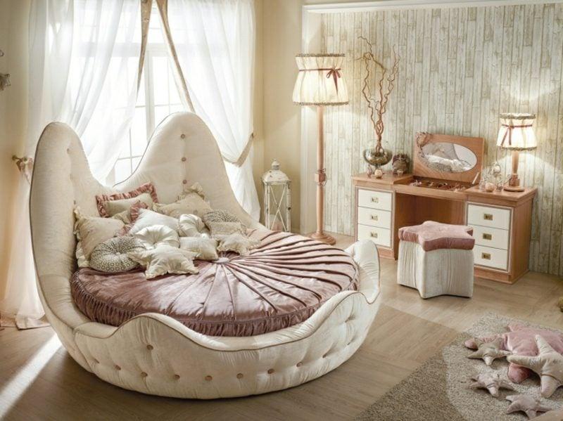 rundes Bett in Muschelform Kinderzimmer