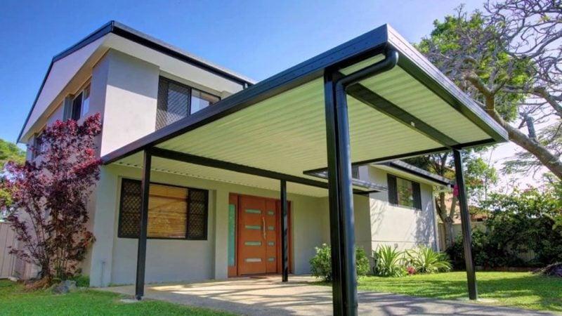 Carport selber bauen Wellplatten Aluminium
