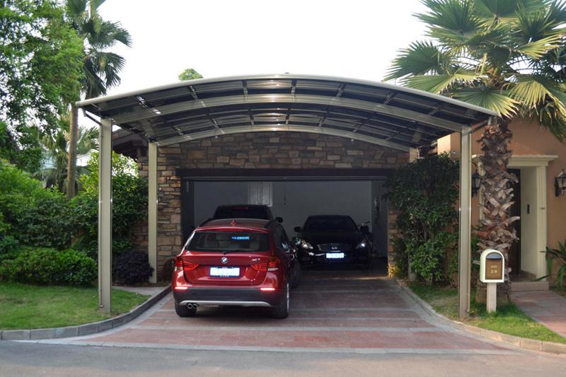 Carport selber bauen drei Autos