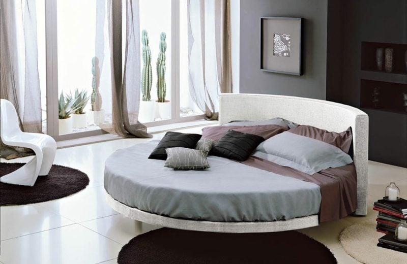 rundes Bett maximaler Schlafkomfort