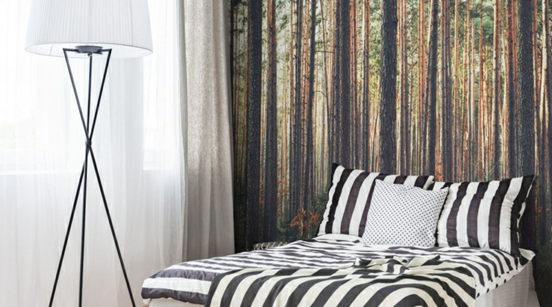Fototapete Wald Schlafzimmer moderner Look