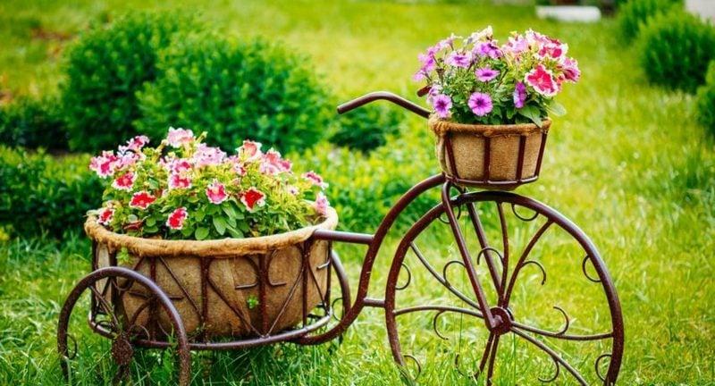 Gartenideen für wenig Geld Fahrrad Deko