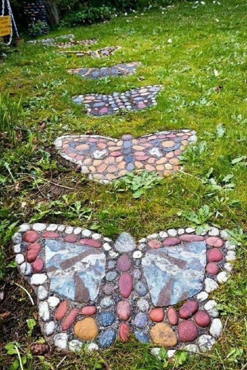 Ausgefallene Gartendeko selber machen Gartenwege