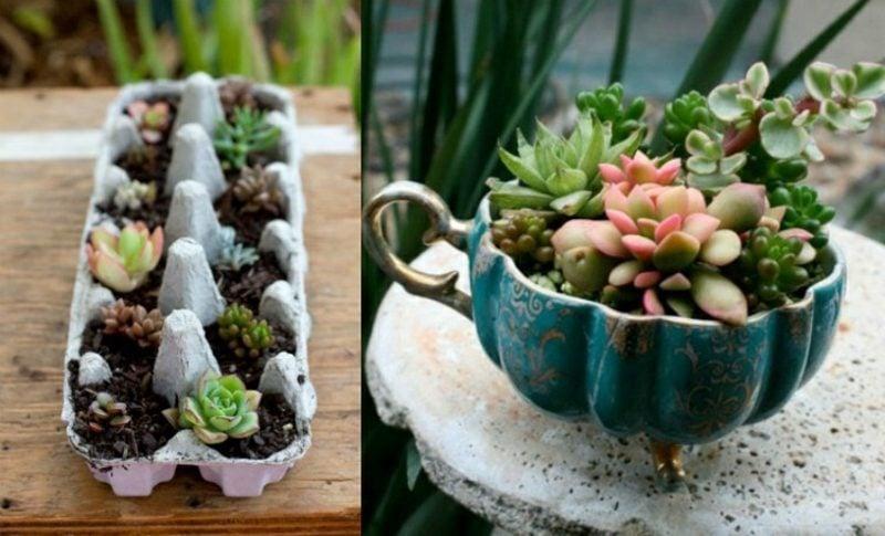 Gartenideen für wenig Geld Deko selber machen