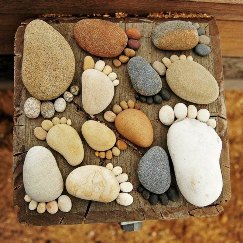 Ausgefallene Gartendeko selber machen DIY Ideen mit Stein
